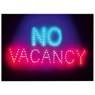 Large Red/Blue Vacancy/No Vacancy LED Sign